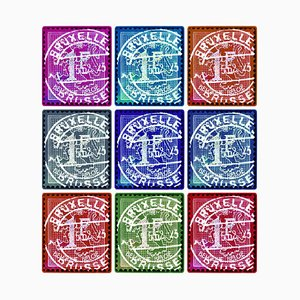 Stamp Collection, Lion of Flanders (multi-color Mosaic Brussels Stamps) 2016