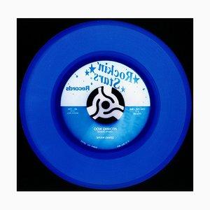 Vinyl Collection, Rock 'n' Roll (Denim) - Blue Conceptual Farbfotografie 2017