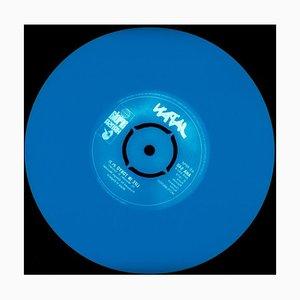 Vinyl Collection, Made in England - Blau, Konzeptionell, Pop Art Farbfotografie 2014