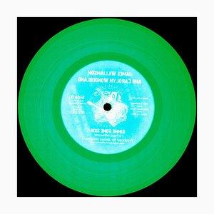 Vinyl Collection, Made in the USA - Green Conceptual Pop Art, Color Photography, 2017