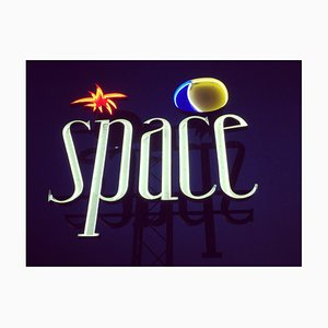 Space, Ibiza, the Balears Gerahmt - Contemporary Colour Sign Photography 2016
