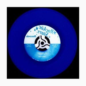 Vinyl Collection, Rock 'n' Roll (indigo) - Conceptual Pop Art, Color Photography 2015