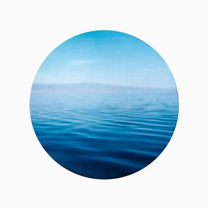 Salton Sea, California - Contemporary, Circle, Waterscape Photography 2017