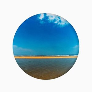 Arena Scolt Head en amarillo arena, Norfolk - Contemporary, Circle, Waterscape Photography 2017