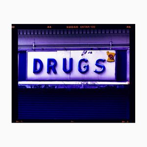Drugs, New York - Contemporary Typography Pop Art Color Photography 2001