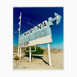 Marina Sign I, Salton Sea Beach, California - Roadside Sign Color Photography 2003