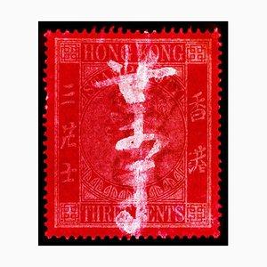 Briefmarkensammlung, Qv 3 Cent - Pop Art Farbfotografie 2017