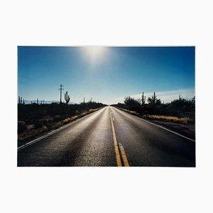 Road To Gunsight, Highway 86, Arizona - Photographie Paysage Couleur de l'Amérique 2001