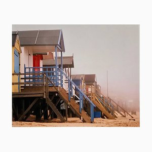 Beach Huts, Wells-next-the-sea, Norfolk - British Seaside Color Photography 2003