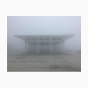 Richard Heeps, The Peak Pavilion, Hong Kong, Misty Day Color Photographic Print, 2016