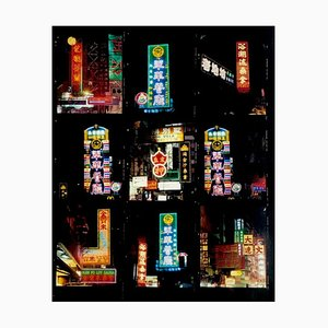 Richard Heeps, Mong Kok, Kowloon, Hongkong, Architektonischer Fotografie-Druck, 2016 nachschauen