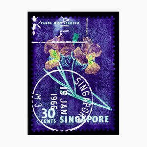 Singapur Briefmarkensammlung, 30c Singapur Orchid Purple - Floral Color Photo 2018