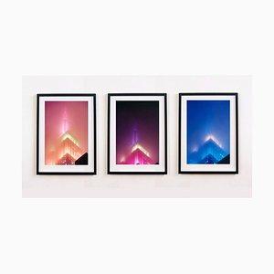 Richard Heeps, Nomade, New York, Triptychon, amerikanischer architektonischer Farbfotografiedruck, 2017