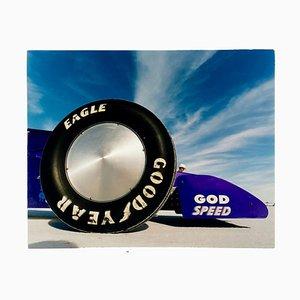 Richard Heeps, Godspeed, Good Year, Bonneville, Utah, Auto in Landschaft Farbiger Kunstdruck, 2003