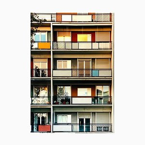 49 Via Dezza al tramonto, Milano, Conceptual Architectural Color Photography 2018