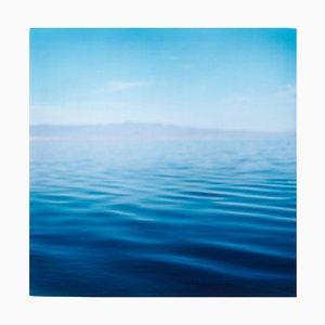 Salton Sea, California, Paesaggio acquatico, Blu, Fotografia a colori 2003