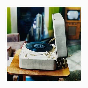 Disc Jockey, Stockton-on-Tees, Retro Musik Farbfotografie 2009