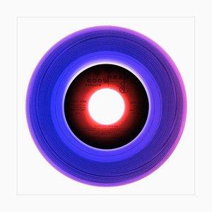 Colección de vinilos cara B, cara uno, fotografía en color de arte pop conceptual 2016