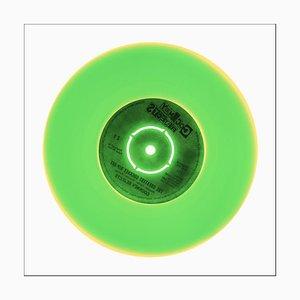 Colección de vinilos lado B, sonido original, fotografía en color de arte pop conceptual 2016