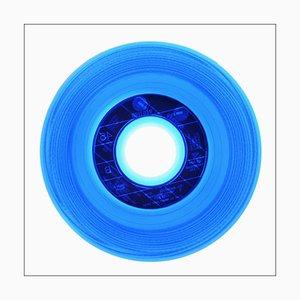B-seitige Vinyl-Sammlung, hergestellt in Frankreich, konzeptionelle Pop-Art-Farbfotografie 2016