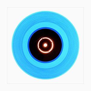 B-seitige Vinylsammlung, Stereo, konzeptionelle Pop-Art-Farbfotografie 2016
