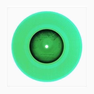Colección de vinilo del lado B, lado B, verde, fotografía en color de arte pop contemporáneo 2016
