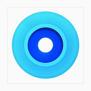 B Side Vinyl Collection, Hellblaue Aufnahme, Pop Art Farbdruck, 2016