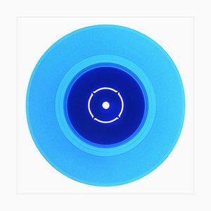 Colección de vinilo del lado B, lado B doble, azul, fotografía en color de arte pop 2016