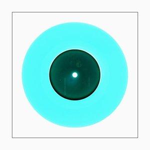 B-seitige Vinyl-Sammlung, Reggae-Blau, zeitgenössische Pop-Art-Farbfotografie 2016