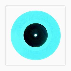 B-Seite Vinyl-Sammlung, Idee, Blau, zeitgenössische Pop-Art-Farbfotografie 2016