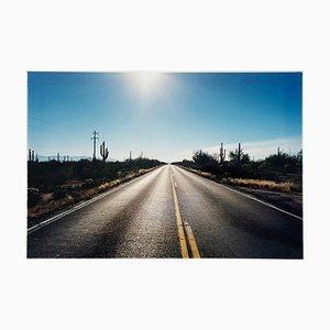 Strada zo Gunsight, Highway 86 Arizona, Landscape Color Photography 1993