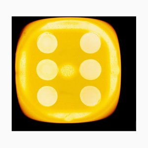 Dice Series, Chartreuse Yellow Six Black - Conceptual Color Photography 2017
