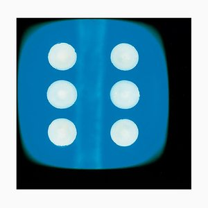 Dice Series, Blue Six, Conceptual Color Photography 2017