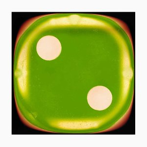 Dice Series, Green Two - Conceptual Color Photography 2017