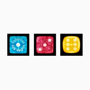 Dice Series - One, Three, Six - Three Contemporary Pop Art Color Photography 2017