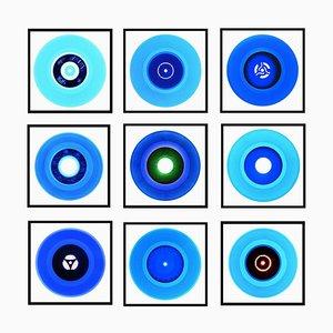 Vinyl Collection B Side Blues Installation, Pop Art Color Print, 2016