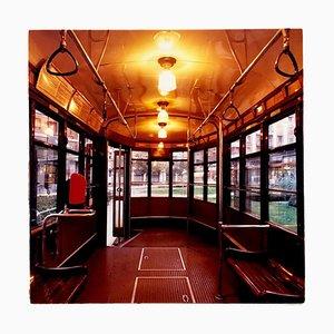 Tram, Lambrate, Milan - Vintage Farbfotografie Fahrzeuge 2018