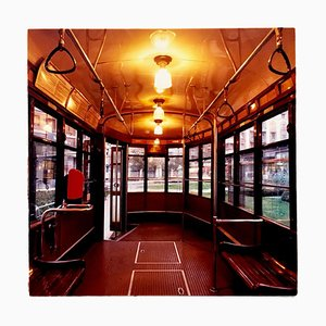 Tram, Lambrate, Milan - Vintage Vehicle Interior Color Photography 2018