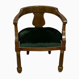 Empire Mahogany Desk Chair, 1860s