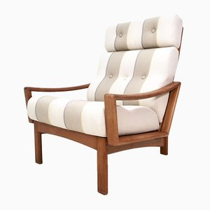 Mid-Century Teak High Back Lounge Chair by Grete Jalk for Glostrup, 1960s