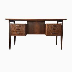 Danish Rosewood Desk by Gunnar Nielsen for Tibergaard, 1960s
