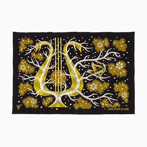 French Snow Stars Tapestry by Jean Picart le Doux, 1960s