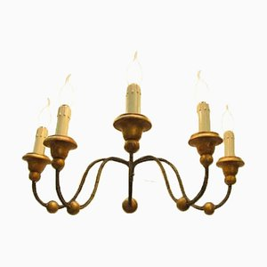 Antique Iron 5-Light Wall Sconce