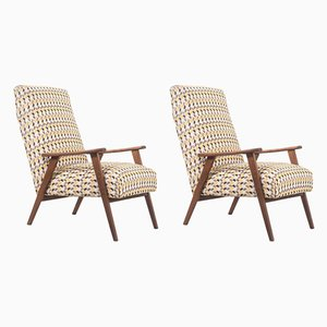 Mid-Century Danish Walnut Armchairs, 1960s, Set of 2