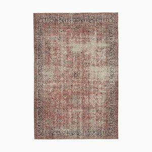Großer Roter Vintage Teppich, 1950er