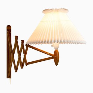Oak Scissor Light by Erik Hansen for Le Klint, Denmark, 1960s