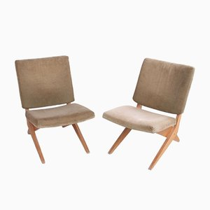 Mid-Century FB18 Scissor Lounge Chairs by Jan van Grunsven for Pastoe, 1950s, Set of 2