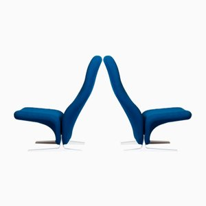 Concorde Lounge Chairs by Pierre Paulin for Artifort, 1960s, Set of 2