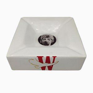 Porcelain Ashtray or Empty Pocket by Piero Fornasetti for Winston, 1970s
