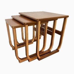 Tables Gigognes Scandinaves Vintage en Teck, 1960s, Set de 3